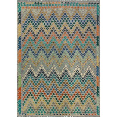 One-of-a-Kind Kratzerville Kilim Ruby�Hand-Woven Wool Purple Area Rug