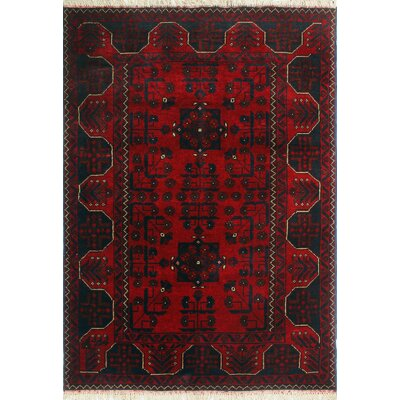 One-of-a-Kind Millar Jaha Hand-Knotted Wool Red Area Rug