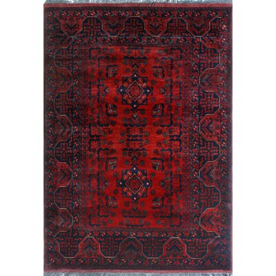 One-of-a-Kind Millar Nehanda Hand-Knotted Wool Red Area Rug