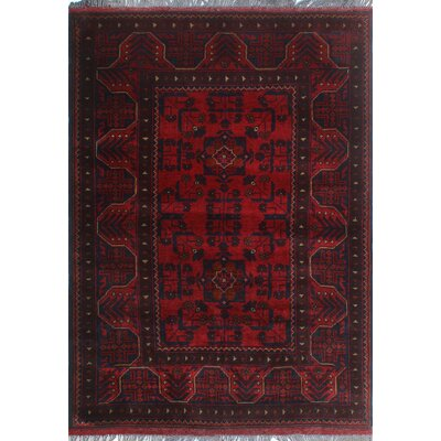 One-of-a-Kind Millar Bejide Hand-Knotted Wool Red Area Rug