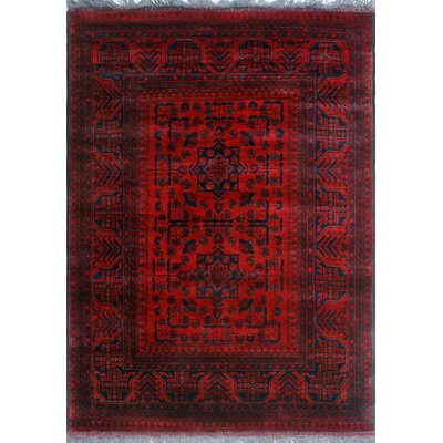 One-of-a-Kind Millar Akins Hand-Knotted Wool Red Area Rug