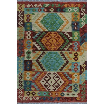 One-of-a-Kind Kratzerville Kilim Talia Hand-Woven Wool Gold Area Rug