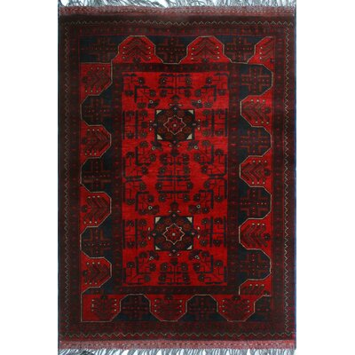 One-of-a-Kind Millar Dumaka Hand-Knotted Wool Red Area Rug