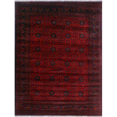 One-of-a-Kind Millar Jaja Hand-Knotted Wool Red Area Rug