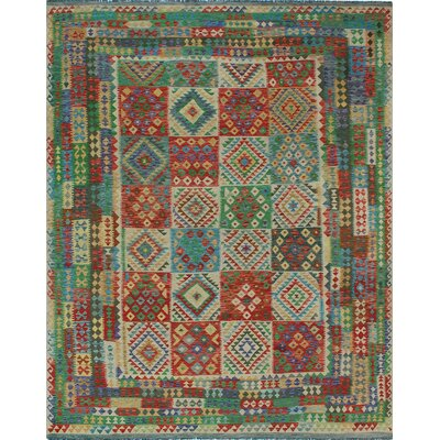 One-of-a-Kind Kratzerville Kilim Chloe�Hand-Woven Wool Ivory Area Rug