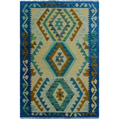 One-of-a-Kind Kratzerville Kilim Livia Hand-Woven Wool Ivory Area Rug