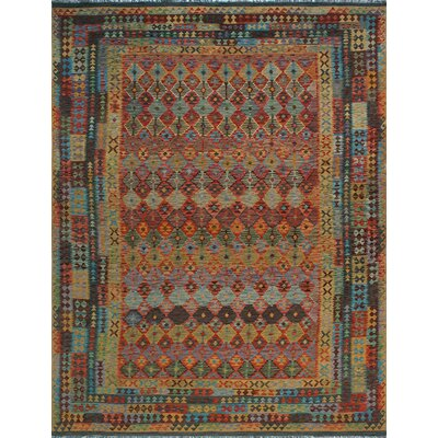 One-of-a-Kind Kratzerville Kilim Freya�Hand-Woven Wool Red Area Rug
