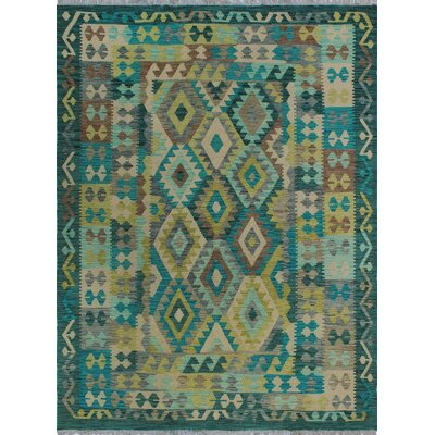 One-of-a-Kind Kratzerville Kilim Serenity Hand-Woven Wool Ivory Area Rug