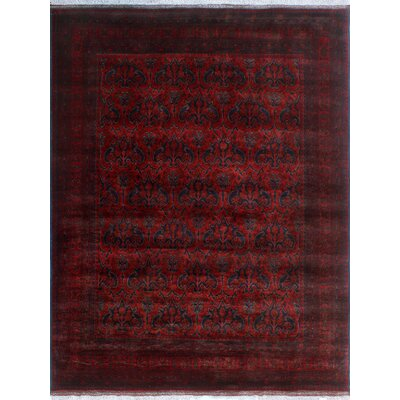 One-of-a-Kind Millar Suhailah Hand-Knotted Wool Red Area Rug