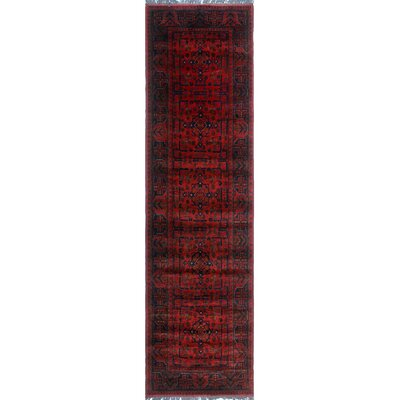 One-of-a-Kind Millar Naeemah Hand-Knotted Wool Red Area Rug