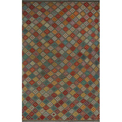 One-of-a-Kind Kratzerville Kilim Tiara Hand-Woven Wool Beige Area Rug
