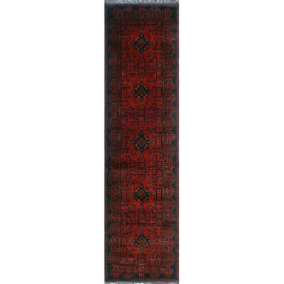 One-of-a-Kind Millar Jabari Hand-Knotted Wool Red Area Rug