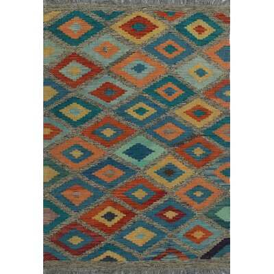 One-of-a-Kind Kratzerville Kilim Cara Hand-Woven Wool Brown Area Rug