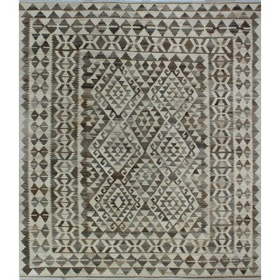 One-of-a-Kind Kratzerville Kilim Phoebe�Hand-Woven Wool Beige Area Rug