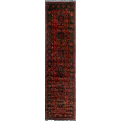One-of-a-Kind Millar Anane Hand-Knotted Wool Red Area Rug