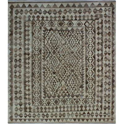 One-of-a-Kind Kratzerville Kilim Charlotte�Hand-Woven Wool Beige Area Rug