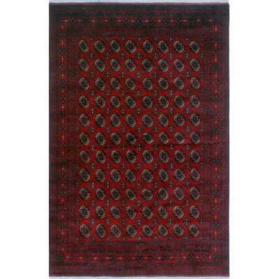 One-of-a-Kind Millar Zainabu Hand-Knotted Wool Red Area Rug