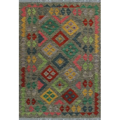 One-of-a-Kind Kratzerville Kilim Lillie Hand-Woven Wool Brown Area Rug