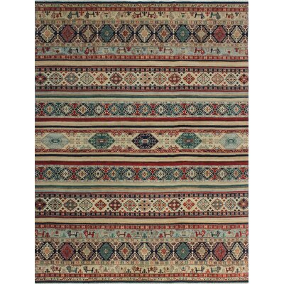 One-of-a-Kind Millard Sefu Hand-Knotted Wool Ivory Area Rug