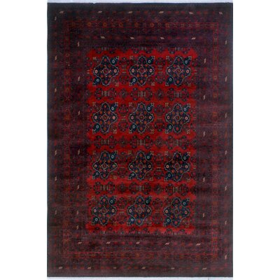 One-of-a-Kind Millar Abeeku Hand-Knotted Wool Red Area Rug