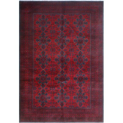 One-of-a-Kind Millar Adom Hand-Knotted Wool Red Area Rug
