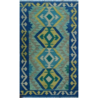 One-of-a-Kind Kratzerville Kilim Quintin Hand-Woven Wool Ivory Area Rug