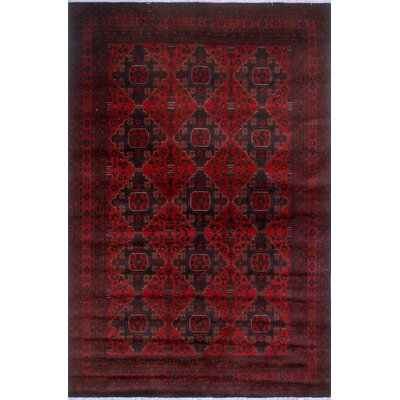 One-of-a-Kind Millar Nombeko Hand-Knotted Wool Red Area Rug
