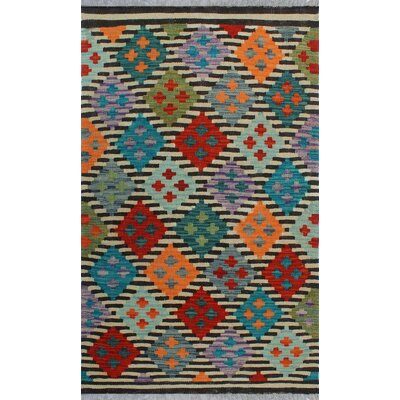 One-of-a-Kind Kratzerville Kilim Lucy Hand-Woven Wool Ivory Area Rug