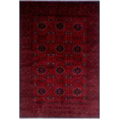 One-of-a-Kind Millar Ebun Hand-Knotted Wool Red Area Rug