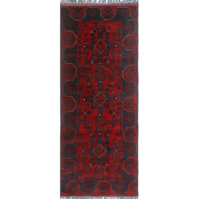 One-of-a-Kind Millar Dominic Hand-Knotted Wool Red Area Rug
