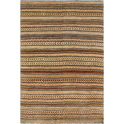 One-of-a-Kind Welty Kissa Hand-Knotted Wool Beige Area Rug