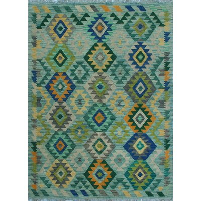One-of-a-Kind Kratzerville Kilim Mily Hand-Woven Wool Ivory Area Rug