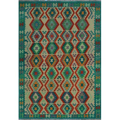 One-of-a-Kind Kratzerville Kilim Dominick Hand-Woven Wool Ivory Area Rug