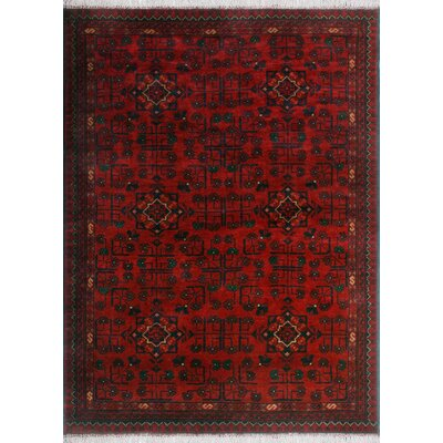 One-of-a-Kind Millar Lily Hand-Knotted Wool Red Area Rug