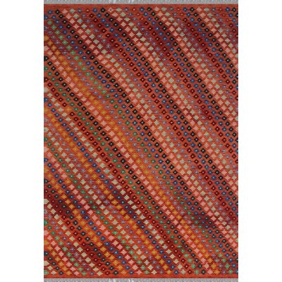 One-of-a-Kind Kratzerville Kilim Brynn Hand-Woven Wool Orange Area Rug