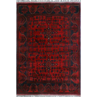 One-of-a-Kind Millar Valentin Hand-Knotted Wool Red Area Rug