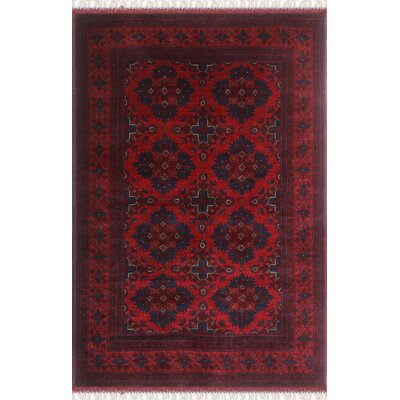 One-of-a-Kind Millar Melina Hand-Knotted Wool Red Area Rug