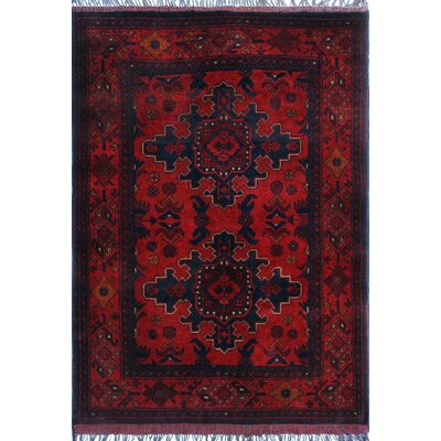 One-of-a-Kind Millar Oliver Hand-Knotted Wool Red Area Rug
