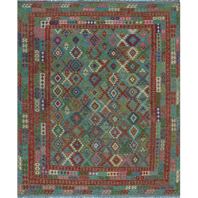 One-of-a-Kind Kratzerville Kilim Jovan Hand-Woven Wool Brown Area Rug