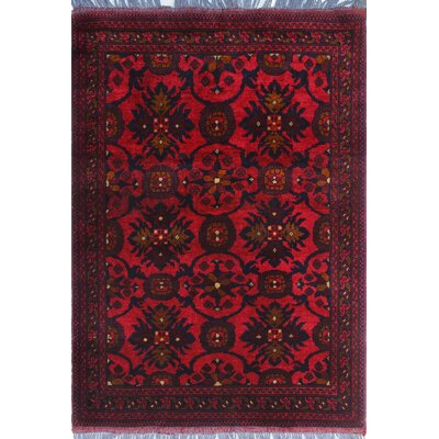 One-of-a-Kind Millar Priscilla Hand-Knotted Wool Red Area Rug