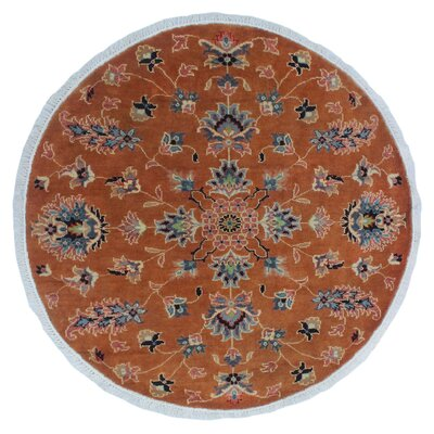 One-of-a-Kind Leann Fine Chobi Dulani Hand-Knotted Wool Orange Area Rug