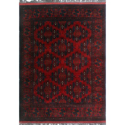 One-of-a-Kind Millar Silas Hand-Knotted Wool Red Area Rug