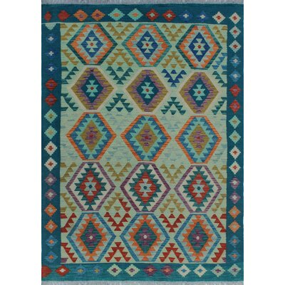 One-of-a-Kind Kratzerville Kilim Gloria Hand-Woven Wool Red Area Rug