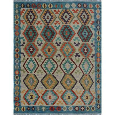 One-of-a-Kind Kratzerville Kilim Frances Hand-Woven Wool Ivory Area Rug