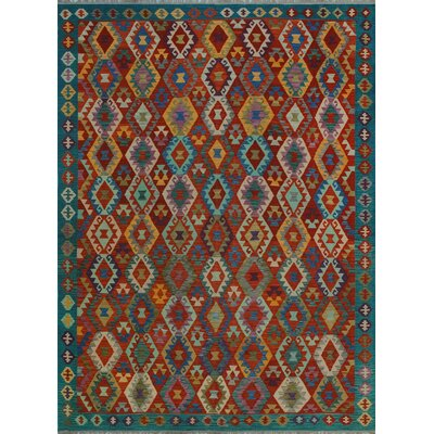 One-of-a-Kind Kratzerville Kilim Hasanati Hand-Woven Wool Red Area Rug