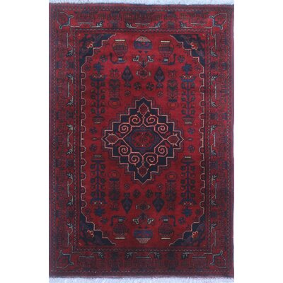 One-of-a-Kind Millar Flor Hand-Knotted Wool Red Area Rug