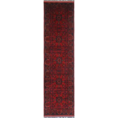 One-of-a-Kind Millar Simba Hand-Knotted Wool Red Area Rug
