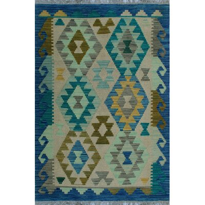 One-of-a-Kind Kratzerville Kilim Julia Hand-Woven Wool Ivory Area Rug