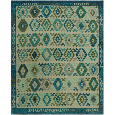 One-of-a-Kind Kratzerville Kilim Justice Hand-Woven Wool Ivory Area Rug