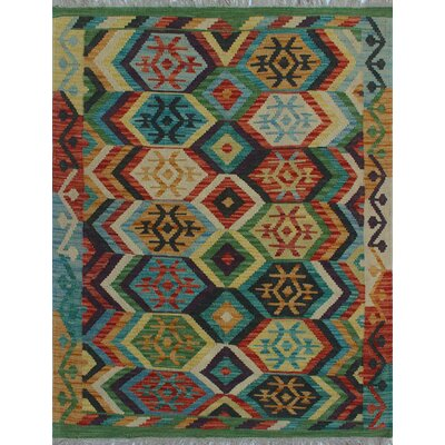 One-of-a-Kind Kratzerville Kilim Nyla Hand-Woven Wool Red Area Rug